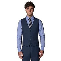 Racing Green - Blue pick and pick waistcoat