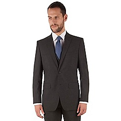 The Collection - Charcoal puppytooth regular fit 2 button suit
