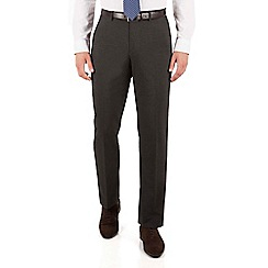 The Collection - Charcoal puppytooth regular fit suit trousers