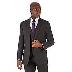 The Collection - Charcoal puppytooth tailored fit 2 button suit