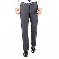 The Collection - Navy jaspe check tailored fit suit trouser