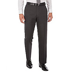 The Collection - Charcoal panama regular fit washable suit trouser