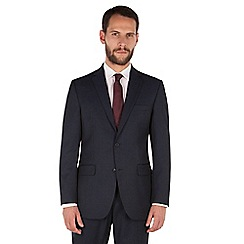 The Collection - Navy tonal stripe regular fit 2 button washable suit jacket