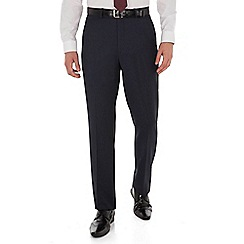 The Collection - Navy tonal stripe regular fit washable suit trouser