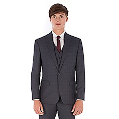 Red Herring - Grey jaspe check 2 button front slim fit suit