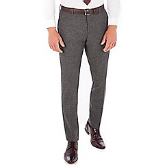 Red Herring - Grey Donegal wool blend slim fit trousers