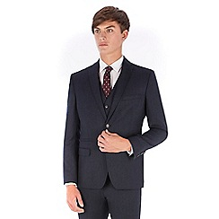 Red Herring - Blue donegal wool blend 2 button front slim fit suit jacket