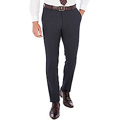 Red Herring - Blue donegal wool blend slim fit trouser