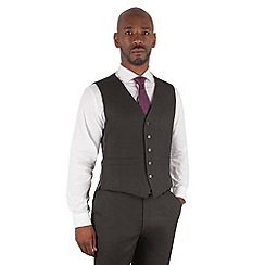 Centaur Big & Tall - Charcoal birdseye 5 button front suit waistcoat