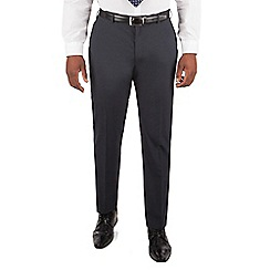 Centaur Big & Tall - Navy puppytooth big and tall suit trousers