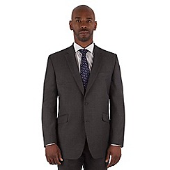 Centaur Big & Tall - Charcoal textured big and tall 2 button front regular fit suit