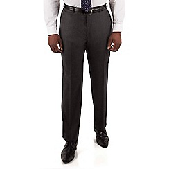 Centaur Big & Tall - Charcoal textured big and tall suit trouser