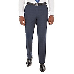 Centaur Big & Tall - Navy tonal check big and tall regular fit suit trouser