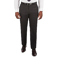 Centaur Big & Tall - Charcoal tonal check big and tall suit trouser