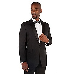 Centaur Big & Tall - Black wool blend big and tall 1 button regular fit dress wear suit jacket