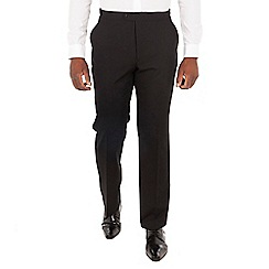 Centaur Big & Tall - Black wool blend big and tall regular fit dress wear trousers