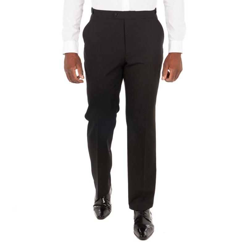 Centaur Big & Tall Black Wool Blend Regular Fit Dress Wear