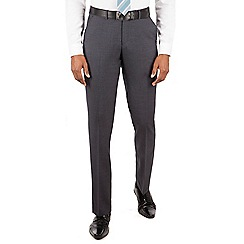 Ben Sherman - Charcoal plain front slim fit kings suit trouser