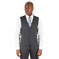 Ben Sherman - Charcoal plain slim fit kings suit waistcoat