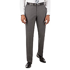 Ben Sherman - Grey jaspe check slim fit kings suit trouser