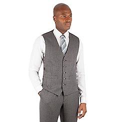 Ben Sherman - Grey jaspe check slim fit kings suit waistcoat