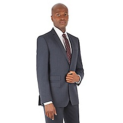 Ben Sherman - Blue textured 2 button front slim fit kings suit