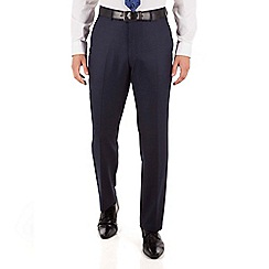 Jeff Banks - Jeff Banks Blue flannel regular fit black label suit trouser