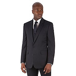 Hammond & Co. by Patrick Grant - Navy semi plain 2 button front tailored fit st james suit jacket