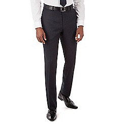 Hammond & Co. by Patrick Grant - Navy semi plain plain front tailored fit suit trouser