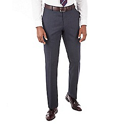 Hammond & Co. by Patrick Grant - Blue puppytooth plain front tailored fit suit trouser