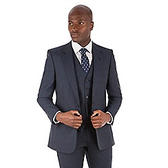 Hammond & Co. by Patrick Grant - Navy tonal check 2 button front tailored fit st james suit