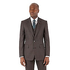 Hammond & Co. by Patrick Grant - Grey puppytooth 2 button front tailored fit st james suit jacket