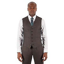Hammond & Co. by Patrick Grant - Grey puppytooth 6 button tailored fit suit waistcoat