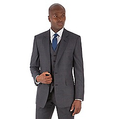 Hammond & Co. by Patrick Grant - Blue with rust check 2 button front tailored fit st james suit