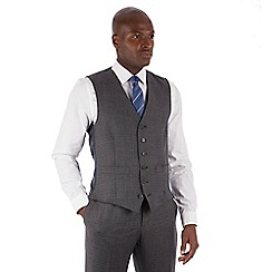 Hammond & Co. by Patrick Grant - Grey flannel check 6 button tailored fit suit waistcoat