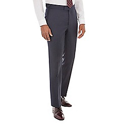 Hammond & Co. by Patrick Grant - Blue semi plain front tailored fit savile row suit trouser