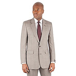 Hammond & Co. by Patrick Grant - Oatmeal with orange check tailored fit savile row suit jacket