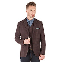 Racing Green - Digby Wine Check Blazer