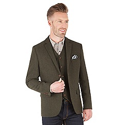 Racing Green - Powell Herringbone Blazer