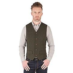Racing Green - Powell Herringbone Waistcoat