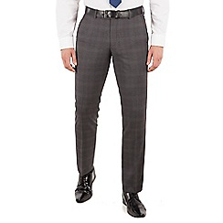 J by Jasper Conran - J by Jasper Conran Grey check flat front tailored fit italian suit trouser