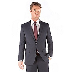 J by Jasper Conran - J by Jasper Conran Navy stripe 2 button front tailored fit italian suit jacket
