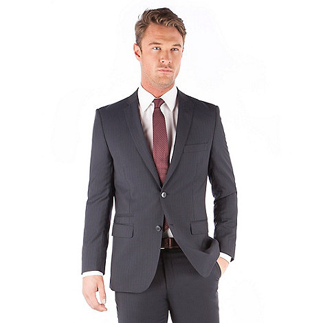 J by Jasper Conran - Navy stripe 2 button front tailored fit italian suit