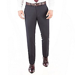 J by Jasper Conran - J by Jasper Conran Navy stripe flat front tailored fit Italian suit trousers
