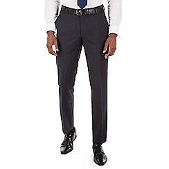 J by Jasper Conran - J by Jasper Conran Blue jaspe windowpane flat front tailored fit italian suit trouser