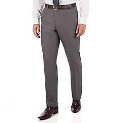 J by Jasper Conran - J by Jasper Conran Grey textured flat front tailored fit luxury suit trouser