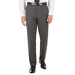 Jeff Banks - Jeff Banks Grey check regular fit travel suit trouser