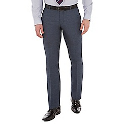 Ben Sherman - Slate blue jaspe wool blend slim fit kings suit trousers