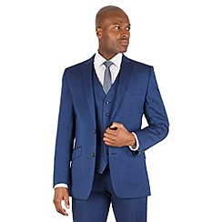 Ben Sherman - Bright blue plain 2 button front slim fit kings suit jacket