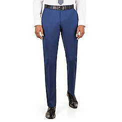 BEN SHERMAN - Bright blue plain front slim fit kings suit trouser